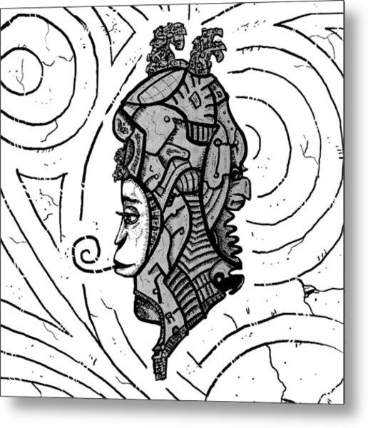 Alien Woman Metal Print