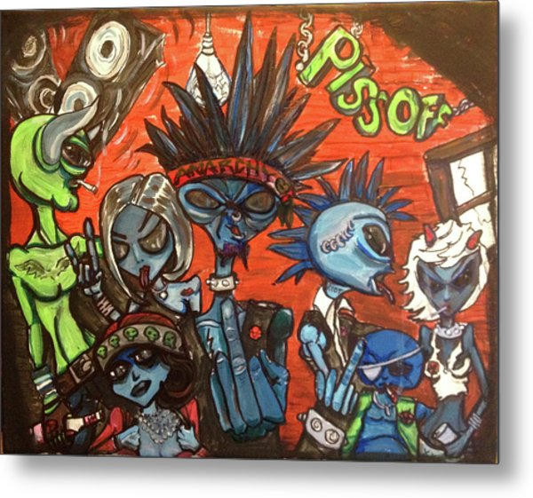 Aliens With Nefarious Intent Metal Print
