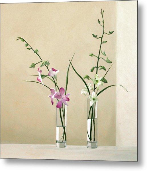 Alison's Orchids Metal Print