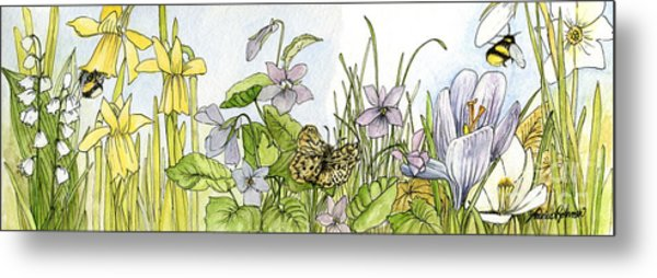 Alive In A Spring Garden Metal Print