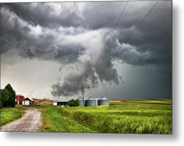 Alive Sky In Wyoming Metal Print