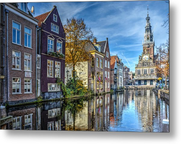 Alkmaar From The Bridge Metal Print