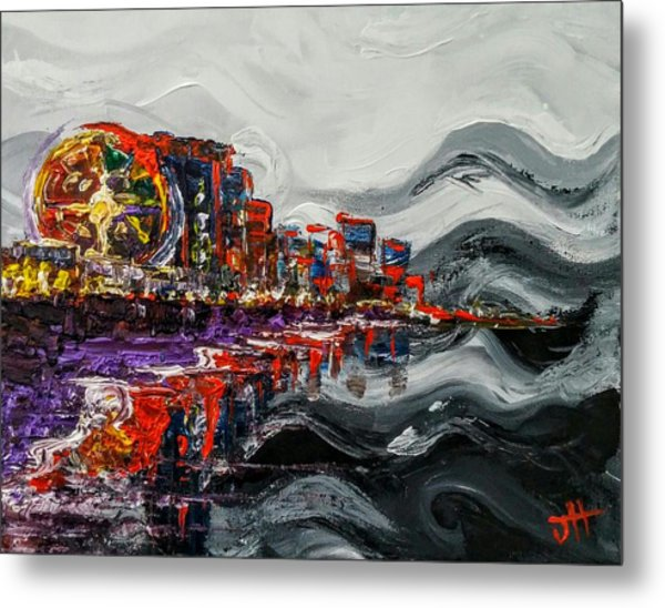 Metal Print featuring the painting All Along The Grand Strand by Jennifer Hotai
