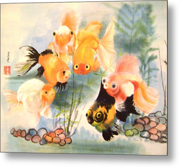 All Are Curious Metal Print by Lian Zhen