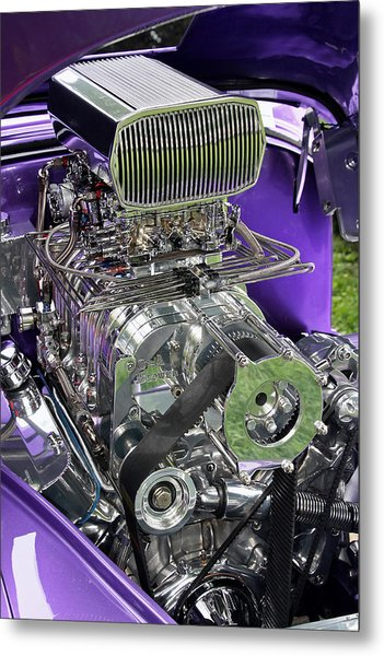 All Chromed Engine With Blower Metal Print