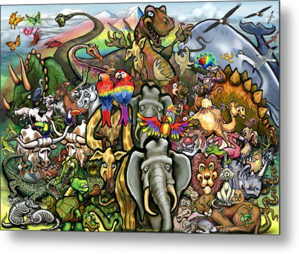 All Creatures Great Small Metal Print