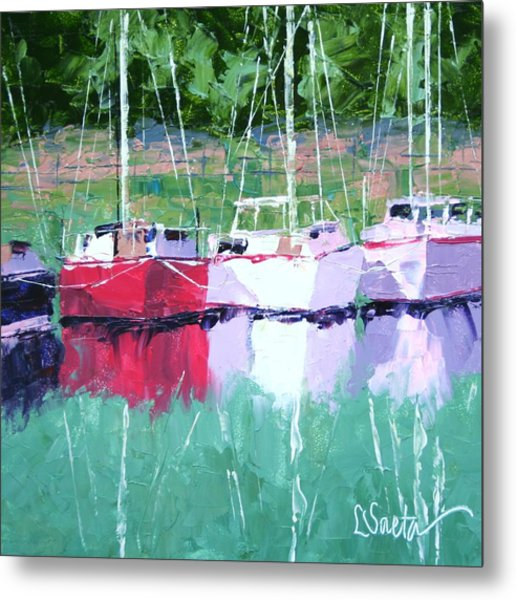 All In A Row Metal Print by Leslie Saeta