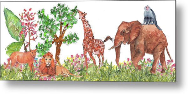 All Is Well In The Jungle Metal Print