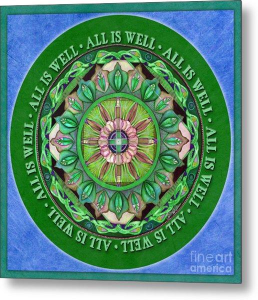 All Is Well Mandala Prayer Metal Print