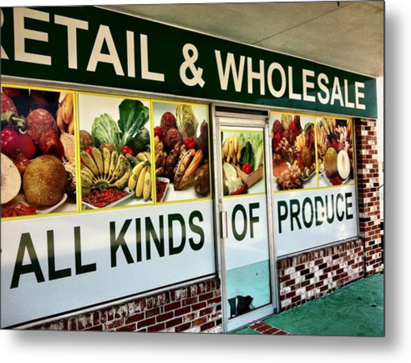 All Kinds Of Produce Metal Print