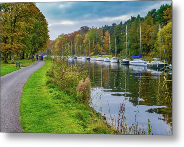 All Moored Up Metal Print