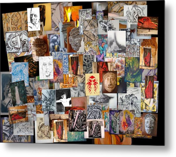 All Of It Collage Metal Print
