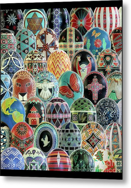 All Ostrich Eggs Collage Metal Print