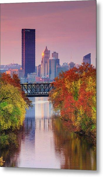 All Pittsburgh Pink  Metal Print