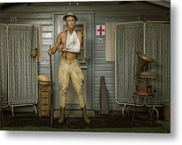 All Quiet On The Western Front-part Three Metal Print by Ronald Van Grinsven