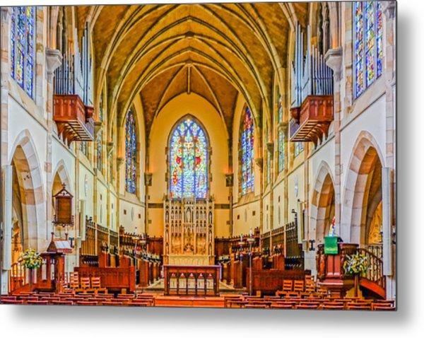 All Saints Chapel, Interior Metal Print