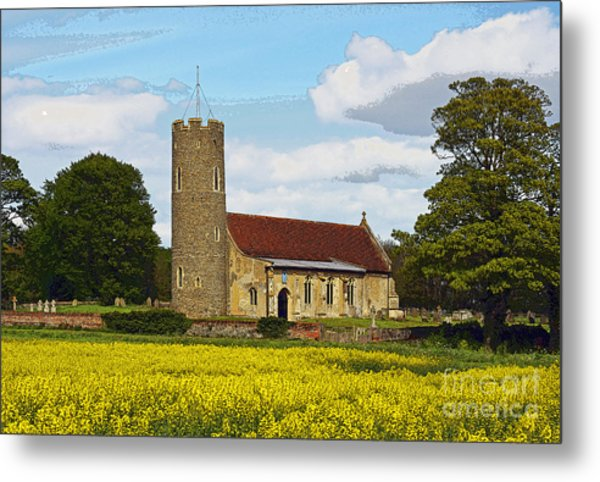 All Saints Frostenden. Metal Print by Stan Pritchard