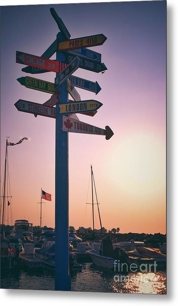 All Signs Point To Sunset Metal Print by Mark David Zahn Photography