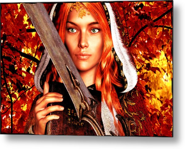 All Souls Day Saint Dymphna Metal Print
