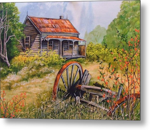 All That  Remains Metal Print by Val Stokes