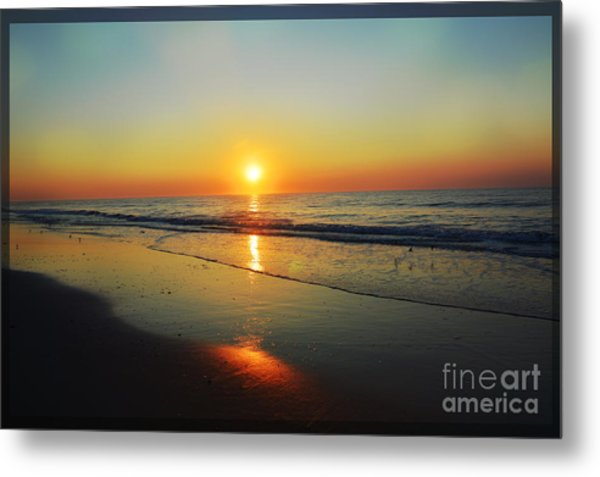 All That Shimmers Is Golden Metal Print