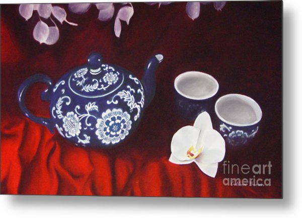 All The Tea In China Metal Print by Colleen Brown