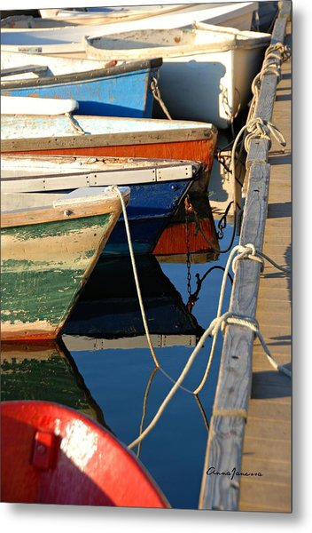 Metal Print featuring the photograph All Tied Up by AnnaJanessa PhotoArt