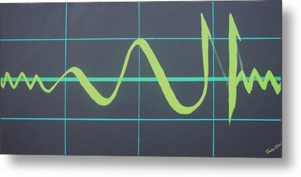 Allah In Cardiograph Metal Print