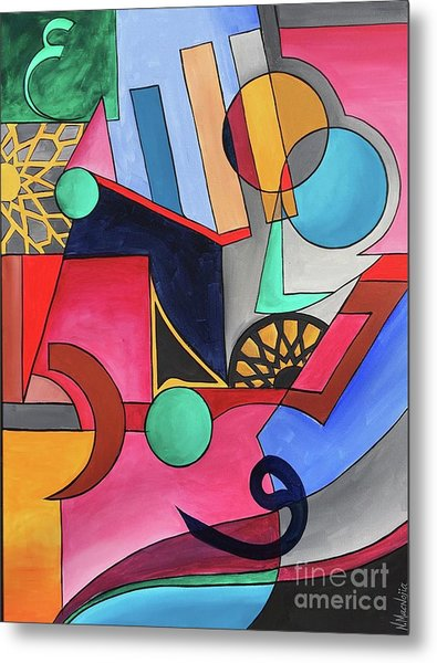 Metal Print featuring the painting Allah-muhammad by Nizar MacNojia
