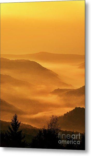 Allegheny Mountain Sunrise Vertical Metal Print