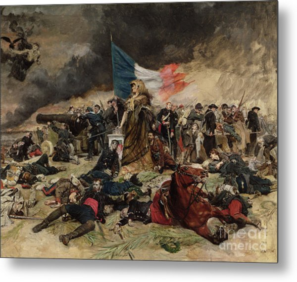 Allegory Of The Siege Of Paris Metal Print