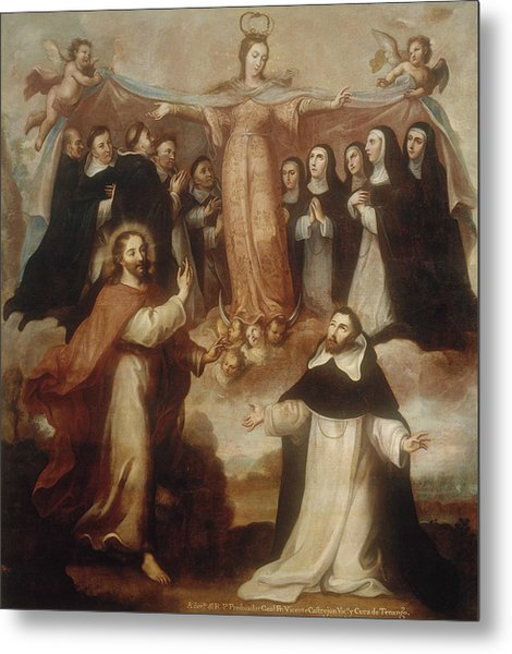 Allegory Of The Virgin Patroness Of The Dominicans Metal Print