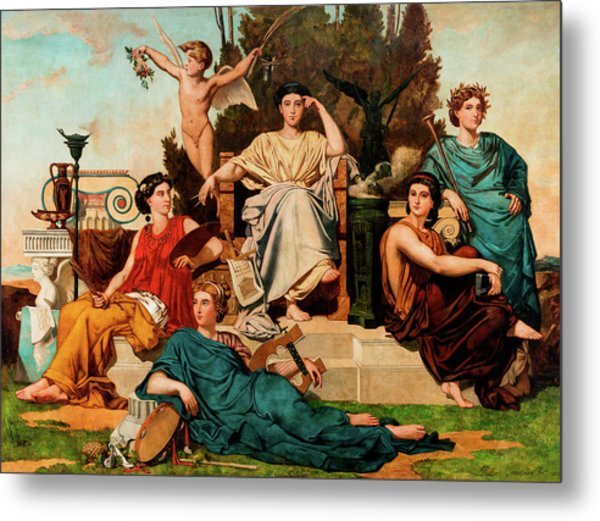 Allegory To The Arts Metal Print