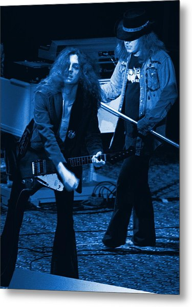 Allen Collins And Ronnie Van Zant Same Old Winterland Blues Metal Print