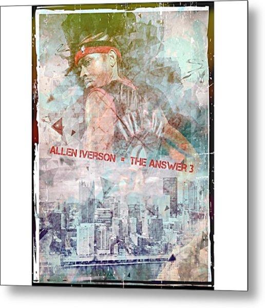 Allen Iverson The Answer Ai Metal Print