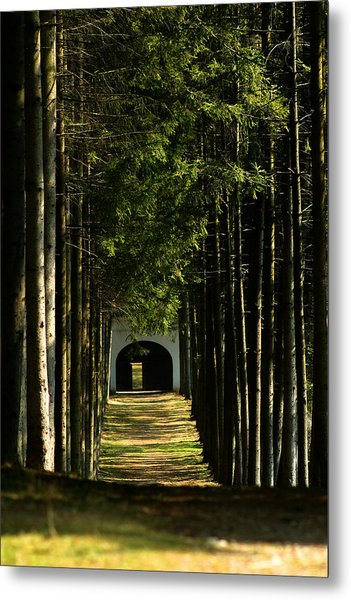 Alley At The Monastery Metal Print