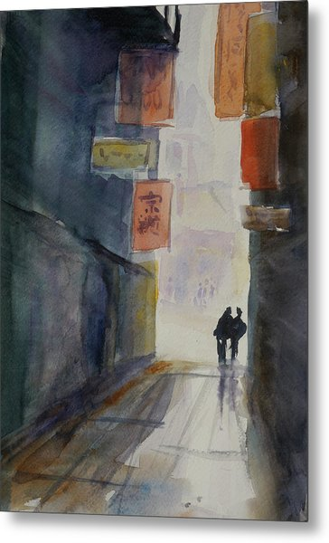 Alley In Chinatown Metal Print