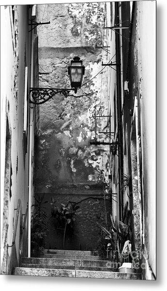 Alley Light Metal Print by John Rizzuto