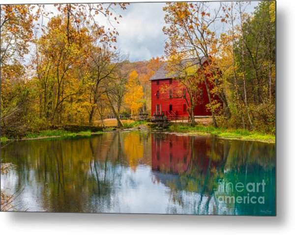 Alley Mill And Spring Metal Print
