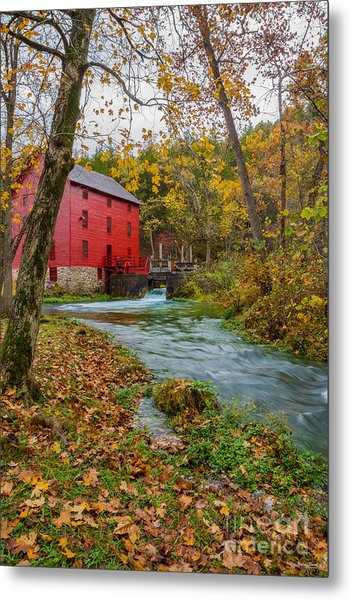 Alley Mill In Autumn Metal Print