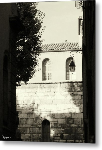 Metal Print featuring the photograph Alley Mystery by Rasma Bertz