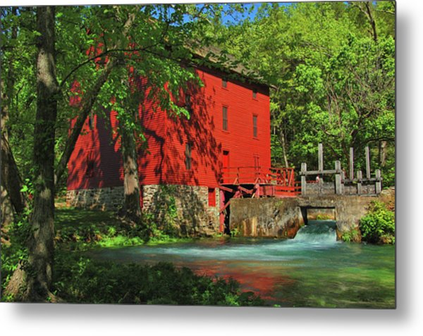 Alley Spring Mill Metal Print
