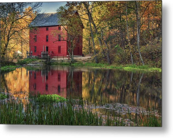 Alley Spring Mill Fall Mo Dsc09240 Metal Print