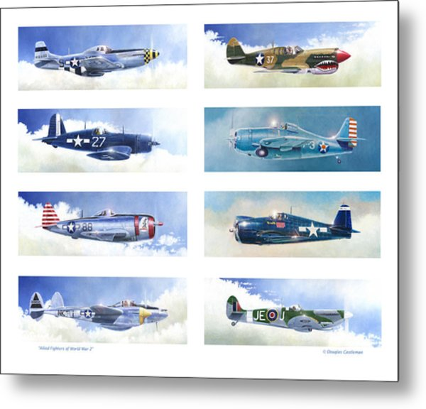 Allied Fighters Of The Second World War Metal Print