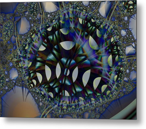 Allien Gears Metal Print by Frederic Durville