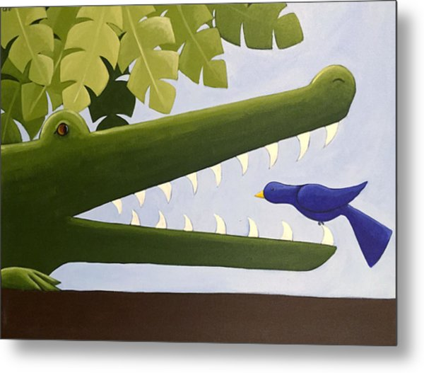 Alligator Nursery Art Metal Print