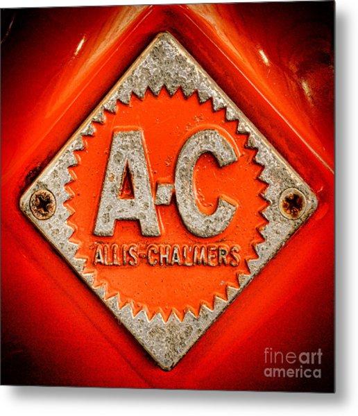 Allis Chalmers Badge Metal Print