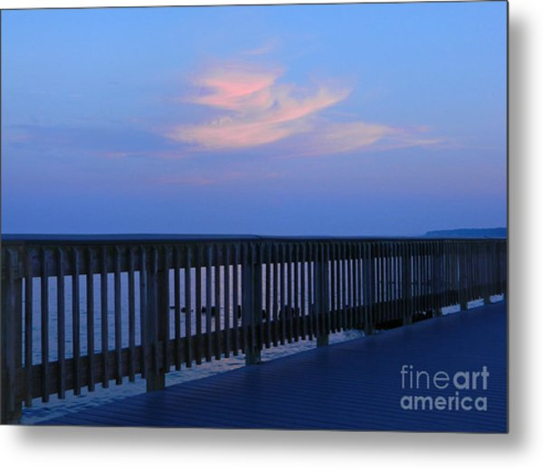 Alls Quiet On The Beach Front Metal Print