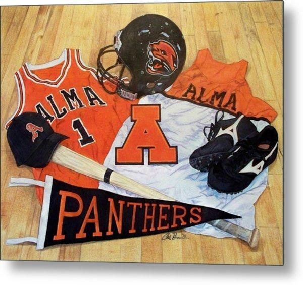 Alma High School Athletics Metal Print