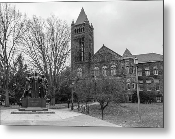 Alma Mater And Law Library University Of Illinois  Metal Print